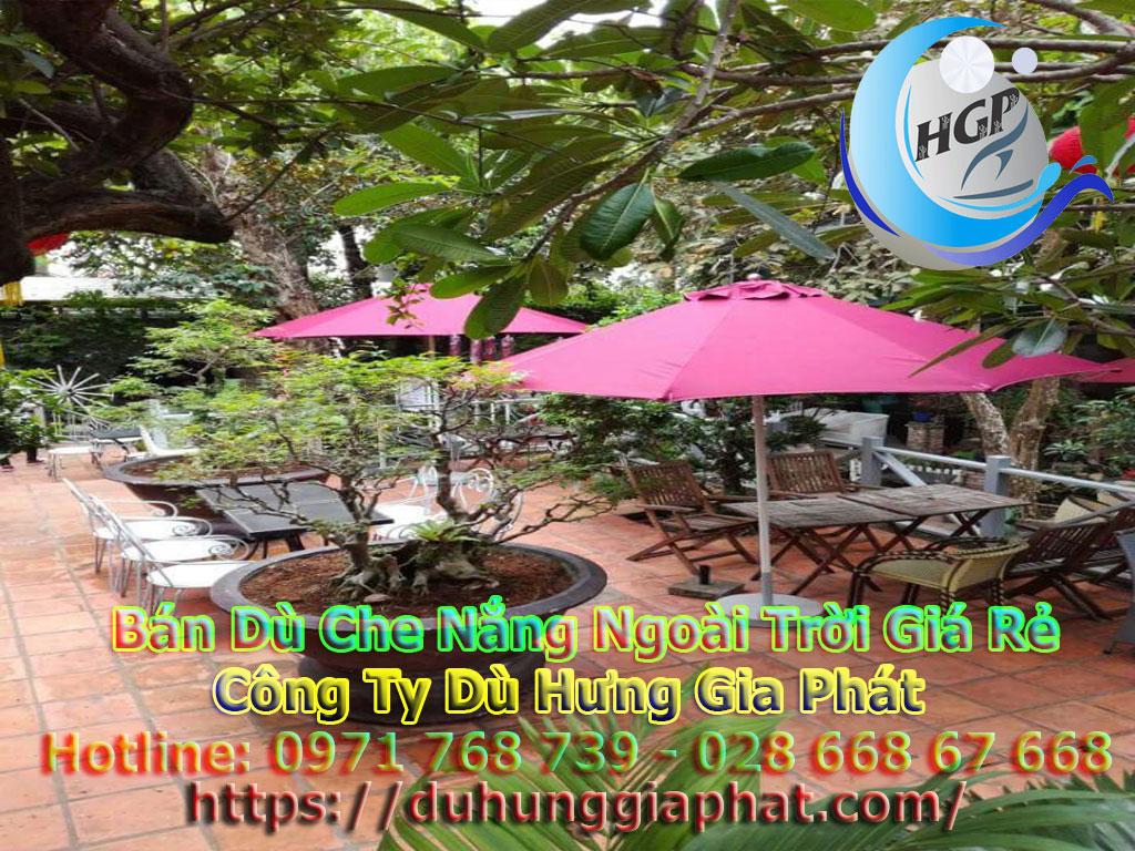 Địa Chỉ Bán Dù Che Nắng Ngoài Trời, Dù Lệch Tâm, Dù Đứng Tâm Quán Cafe Giá Rẻ Tại Lâm Đông