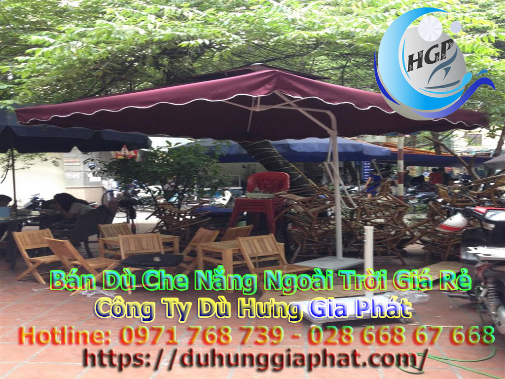 Bán Ô Dù Che Nắng Mưa Quán Cafe Sân Vườn, Mua Dù Cafe, Dù Lệch Tâm Tròn Vuông, Dù Đứng Tâm Giá Rẻ Tại Quân Tân Bình