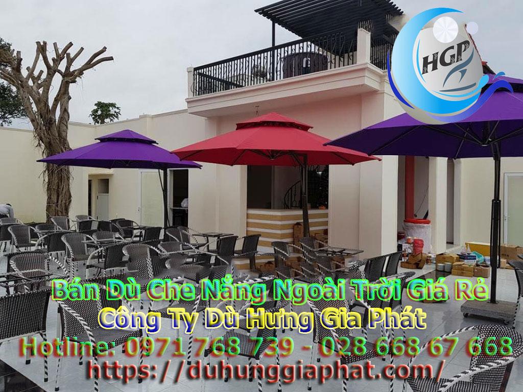 Địa Chỉ Bán Ô Dù Lệch Tâm Che Nắng Mưa Quán Cafe Sân Vườn Tại Quận 2